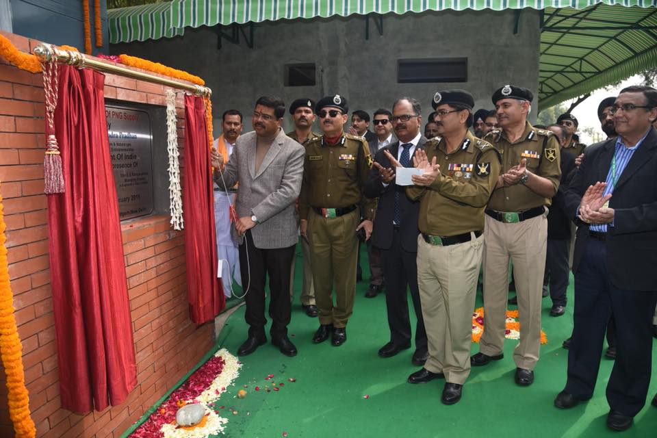 Hon'ble Union Minister of P&NG and SD&E  Inaugurated PNG facility provided by Indraprastha gas Ltd at BSF Camp Chhawla at Delhi on 10th Feb'18