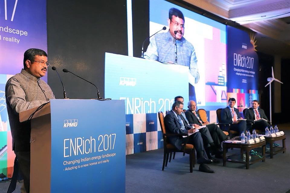 "Union Minister of P&NG and SD&E Delivered keynote address at the Inaugural session of ENRich 2017- Annual Energy Conclave by KPMG India on ""Changing India's Energy Landscape - Adapting to a new normal and reality"" at New Delhi on 28th Nov'17"