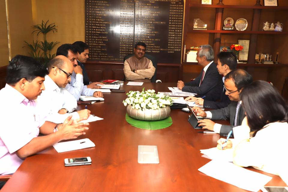 Union Minister of P&NG and SD&E met the Japanese Ambassador to India on 13th Oct'17 & discussed various aspects of enhancing mutual cooperation ahead of his upcoming Visit to Japan.