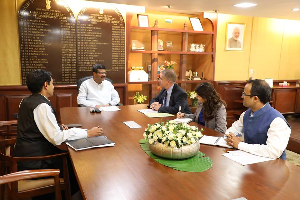 Ambassador of Israel met Hon'ble MoS(I/C) PNG in his office at New Delhi on 01st Aug'17