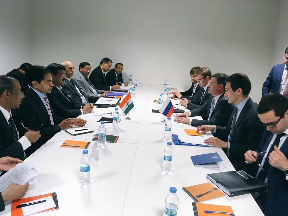 Hon'ble MoS(I/C) PNG Held a bilateral meeting with H.E. Energy Minister of Russia on the sidelines of 22nd World Petroleum Congress at Istanbul on 10th Jul'17