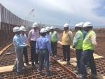 Hon'ble MoS(I/C) PNG Reviewed progress of LNG import terminal by IndianOil LNG Pvt Ltd at Ennore in Kamrajar port on 24th July'16.