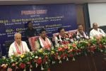 Hon'ble MoS(I/C) PNG along with Hon'ble CM of Assam at a Press Meet at Guwahati on 24th June'16 after the review of oil & gas projects of Assam