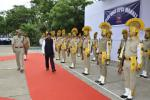 Hon'ble MoS(I/C) PNG receiving Guard of Honour at CPCL Manali Refinery, Chennai on 23rd July'16