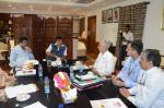 Hon'ble MoS(I/C) PNG and Hon'ble Shipping Minister Reviewed Shipping projects related to both the ministries at New Delhi on 22nd July'16