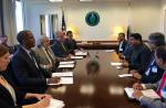 Hon'ble MoS(I/C) PNG Shri Dharmendra Pradhan holding meeting with US Energy Secretary Dr Ernest Moniz on 18th July'16