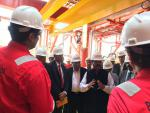 Hon'ble MoS(I/C) PNG during his visit to Keppel Shipyard, Singapore on 10th Sep'16