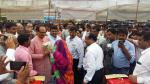 Hon'ble MoS(I/C) PNG and Hon'ble CM, MP interacting with people before the launch of PMUjjwalaYojana at Shahdol, MP on 04th July'16