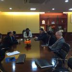 Hon'ble MoS(IC) PNG discussing with a delegation led by global VP of world oil major Chevron on 31st Jan'15 at New Delhi.