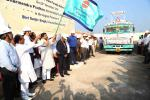 Hon'ble MoS(I/C) PNG flagging off Ist supply of Diesel, Kerosene and LPG produced in Paradip refinery on 22nd Nov'15.
