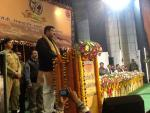 Hon'ble MoS(IC) PNG, addressing gathering on 18th Jan'15 at Barauni Refinery on the occasion of Golden Jubilee of Barauni Refinery.