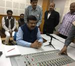 Hon'ble MoS(I/C) PNG speaking live at the newly inaugurated All India Radio Station at Rairangpur, Odisha on 10th Jan'16