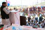Hon'ble MoS(I/C) PNG addressing the Silver Jubilee Celebrations of Malheipada Panchayat Uchcha Vidyalaya, Rajamunda in Reamal Block of Deogarh, Odisha on 09th Jan'16.