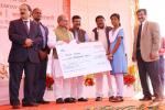 Hon'ble MoS(I/C) PNG during the award of scholarships to meritorious girl students under BPL in the districts of Angul and Koraput at NALCO, Angul in Odisha on 08th Jan'16