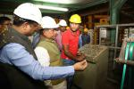Hon'ble MoS(I/C) PNG with Hon'ble Steel and Mines Minister witnessing the production process at NALCO plants, Angul in Odisha on 08th Jan'16