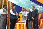 Hon'ble MoS(I/C) PNG and Hon'ble Maharastra CM during the inauguration of the ceremony to dedicate the new crude distillation unit(CDU) installed in BPCL's Mahul refinery to the nation on 28th Dec'15.