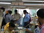 Hon'ble MoS(I/C) PNG visiting a garment factory at Dhaka on 18th April'16.