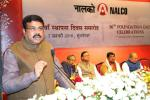 Hon'ble MoS(I/C) PNG speaking on the occasion of 36th Foundation Day Celebrations of NALCO at Bhubaneswar on 07th Jan'16.