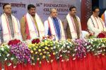 Hon'ble MoS(I/C) PNG during the inauguration of 36th Foundation Day Celebrations of NALCO at Bhubaneswar with Hon'ble Minister of Steel and Mines & Hon'ble Minister of Tribal Affairs on 07th Jan'16.