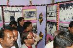 Hon'ble MoS(I/C) PNG visiting the the Freedom Fighter's day exhibition organised by State Freedom Fighter's Samiti at Bhubaneswar on 02nd Jan'16.