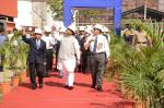 Hon'ble MoS(I/C) PNG inspecting BPCL's Mahul Refinery on 28th Dec'15.