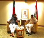 Hon'ble MoS(I/C) PNG in a meeting with the Energy and Mineral Resources Minister of Bangladesh at Dhaka on 18th April'16.