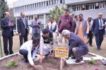 Hon'ble MoS(I/C) PNG planting a sapling at ONGC's Institute of Drilling Technology in Dehradun on 18th Feb'16.