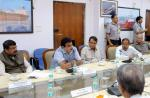 Hon'ble MoS(I/C) PNG discussing cooperation with Iran for development of Chabahar port with Hon'ble Minister Shipping, Railways, National Security Advisor & Secy. of MEA, Steel & Fertilizer at New Delhi on 17th Sep'15