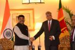 Hon'ble MoS(I/C) PNG with Hon'ble PM of Sri Lanka at New Delhi on 15th Sep'15