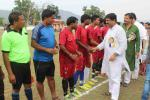 Hon'ble MoS(I/C) PNG attending one day knockout football tournament in Indira Gandhi Stadium in Deogarh Town, Odisha on 10th May'15.