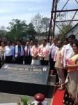 "Hon'ble MoS(I/C) PNG on 15th Apr'15 visiting ""Gongotri"" of Indian oil industry, Well No-1 in Digboi where 1st oil was produced in 1889."
