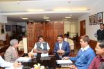 Hon'ble MoS(IC) PNG discussing with the Hon'ble Minister for Road Transport & Shipping ways to expedite various projects of mutual interest to both the ministries at New Delhi on 12th March'15.