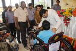 Hon'ble MoS(I/C) PNG at the free distribution camp of assistive aids and appliances for differently-abled persons with special needs in Bhubaneswar on 20th June'15 organised by EIL as a part of CSR initiatives.