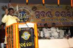 Hon'ble MoS(I/C) PNG addressing Golden Jubilee Function of Gopinath High School, Gadishagoda, Kanas in Puri District, Odisha on 04th May'15.
