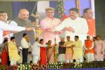 Hon'ble MoS(I/C) PNG during the launch of PMUjjwalaYojna in the presence of Hon'ble CMs of Gujarat, Rajasthan & MPs at Dahod, Gujarat on 15th May'16.