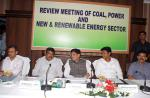 Hon'ble MoS(I/C) PNG & Power, Coal, New & Renewable Energy reviewing working of Power, Coal, New & Renewable Energy sector of Odisha on 03rd Sep, 2015 at Bhubaneswar.