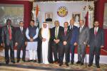 Hon'ble MoS(I/C) PNG attending the National Day of Qatar as Chief Guest at New Delhi on 15th Dec'15.