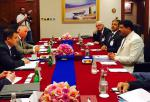 Hon'ble MoS(I/C) PNG Reviewing all aspects of bilateral energy cooperation with the Russian Deputy Minister of Energy at Qatar on 09th Nov'15.