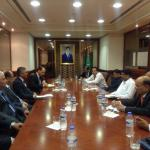 Hon'ble MoS(I/C) PNG holding talks with the Hon'ble Minister of Mines & Petroleum of Afghanistan at Ashgabat, Turkmenistan on 06th Aug, 2015.