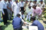 Hon'ble MoS(I/C) PNG planting a tree at Panipat Refinery complex on 07th June'15.