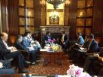 Hon'ble MoS(I/C) PNG interacting with the Hon'ble Minister of Energy of Qatar at Vienna, Austria on 03rd June'15.