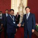 Hon'ble MoS(I/C) PNG in a meeting with the Hon'ble Russian Energy Minister Mr Alexander Novak at Vienna, Austria on 03rd June'15.