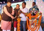 Hon'ble MoS(I/C) PNG inaugurating the Golden Jubilee Celebrations of Ramachandi High School, Erakana in Mahanga of Cuttack District on 29th Dec'15.