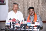 Hon'ble MoS(I/C) PNG and Hon. CM Chattisgarh during a press conference at Raipur on 07th May'16.