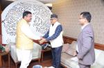 Hon'ble MoS(I/C) PNG in a meeting with the Ambassador of Nepal at New Delhi on 03rd Mar'16.