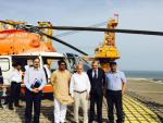 Hon'ble MoS(I/C) PNG during the visit to GSPC rig in KG offshore on 25th June'15.