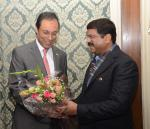 Hon'ble MoS(I/C) PNG with the Energy Minister of Morocco at New Delhi on 20th Jan'16.