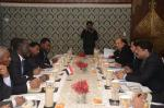 Hon'ble MoS(I/C) PNG in a bilateral discussion with the Energy Minister of Sudan at New Delhi on 20th Jan'16