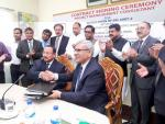 Hon'ble MoS(I/C) PNG & Mineral Resources Minister of Bangladesh witnessing the contract signing ceremony between EIL & Bangladesh Petroleum Corporation(BPC) at Chittagong on 19th April'16.