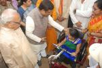 Hon'ble MoS(I/C) PNG distributing supporting equipments to Divyangs in Balangir, Odisha on 19th Jan'16.
